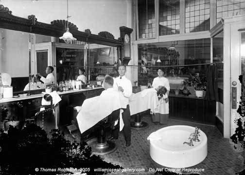 Robinson WJG Yokote Barber Shop SW 2nd Avenue Ankeny Street 1915 Portland Oregon USA photos wsl horizontals bw historic 9304277
