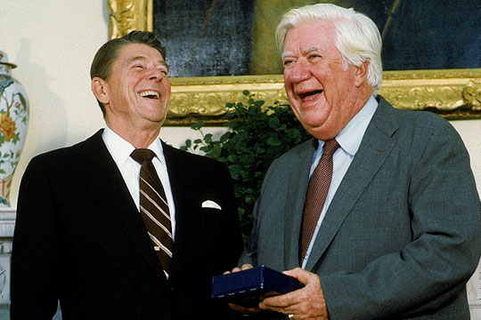 REMEMBER WHEN TIP WOULD WORK WITH REAGAN FOR THE GOOD OF THE COUNTRY??