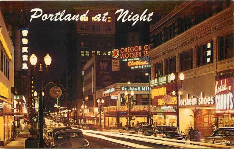 Portland night scene