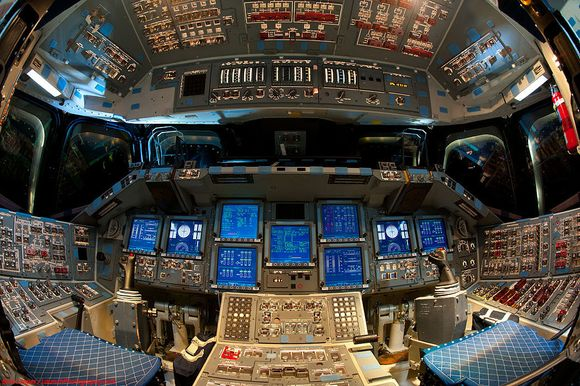 INSIDE THE SPACE SHUTTLE