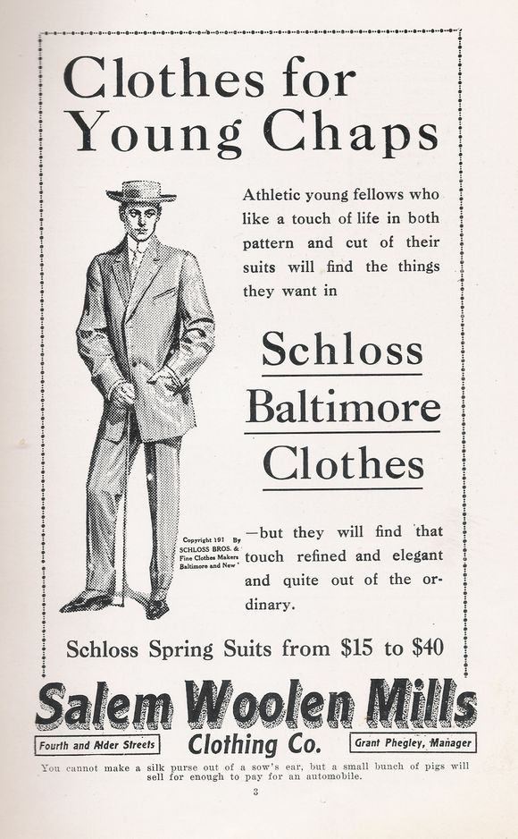 ADVERTISEMENT FROM 1911