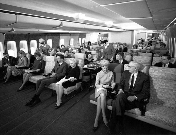 PAN AM FLIGHT IN SIXTIES