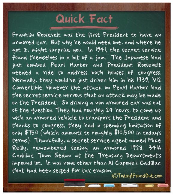 FACTS ABOUT FDR/CAPONE LIMO