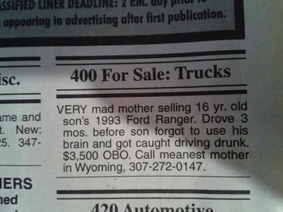GREAT CLASSIFIED AD