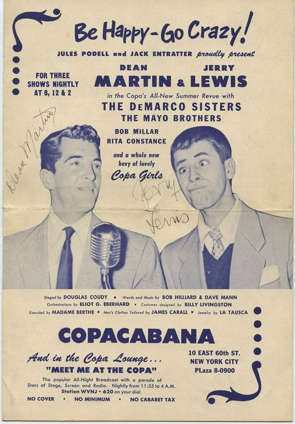 MARTIN & LEWIS AT THE COPA