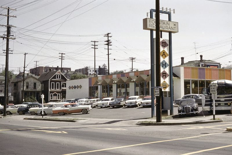 Sahr's Restaurant, Portland, Oregon, 1959