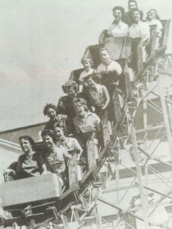 WOODEN ROLLER COASTER BUILT FOR THE OREGON STATE FAIR