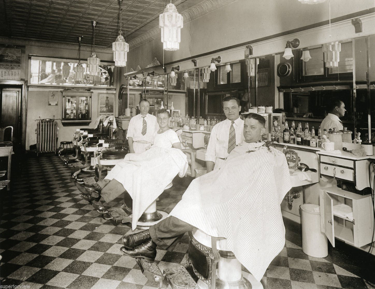 Classic barber shop chairs - Motor City Barbers