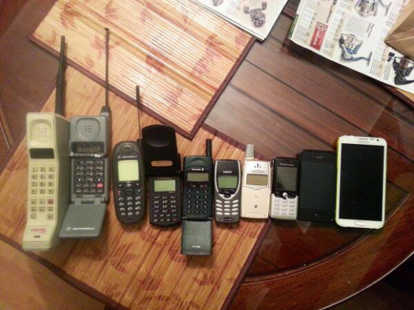 THIRTY YEARS OF CELL PHONES