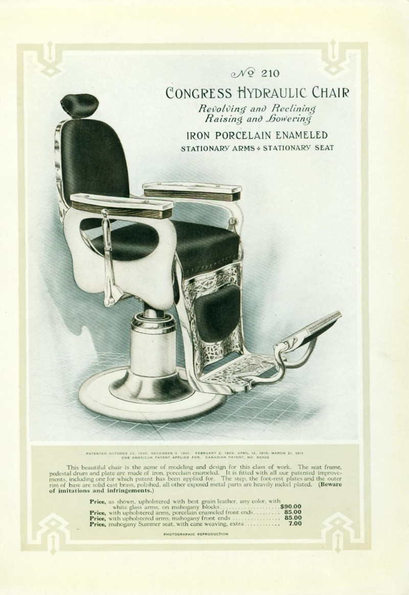 BARBER CHAIR AD IMITATIONS