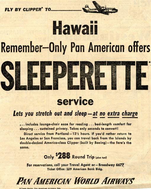 HAWAII PAN AMERICAN