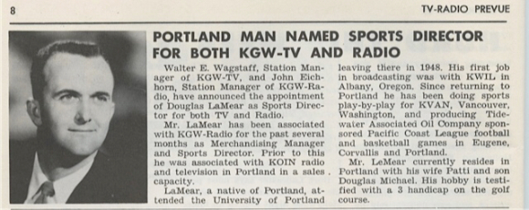 DOUG JOINED KGW IN 1956