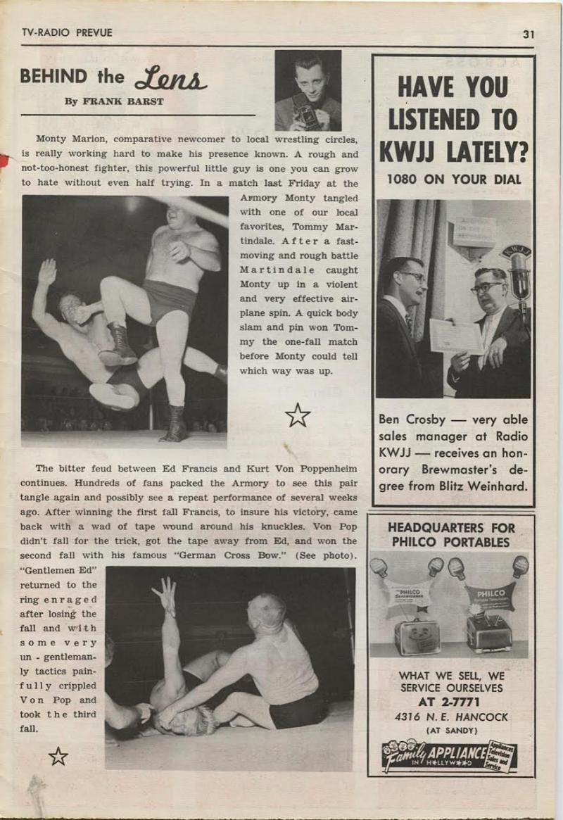 Wrestling in 1956