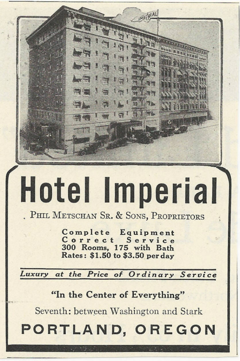 Imperial hotel ad