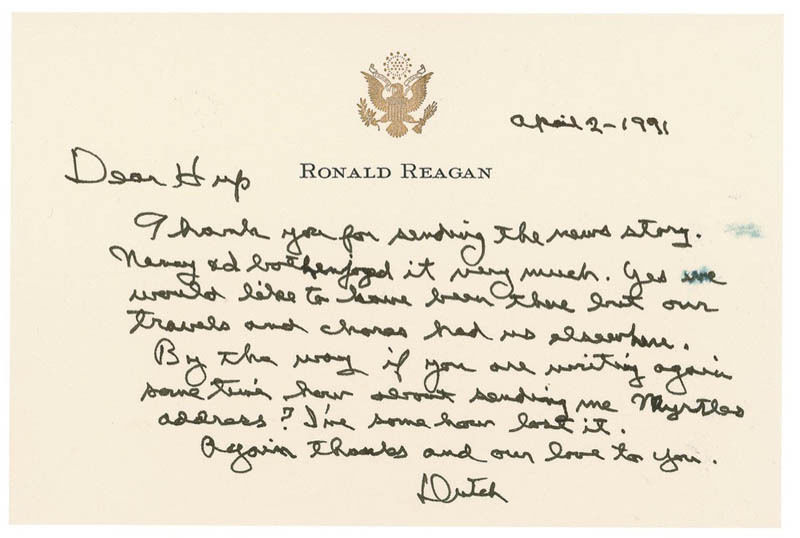 REAGAN LETTERS