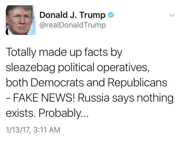 DON THE CON HATES FAKE NEWS