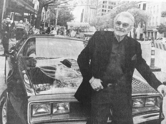 BURT WITH THE 77 TRANS AM USED IN SMOKEY AND THE BANDIT