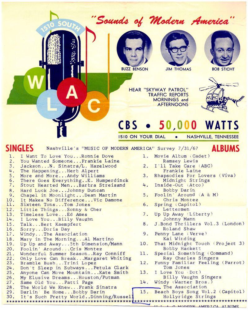 WLAC July 31 1967