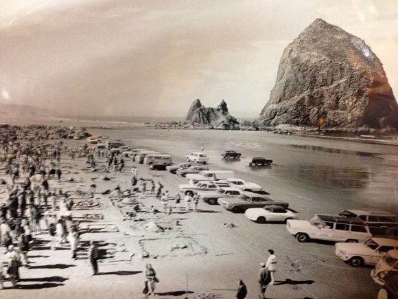 AUTOS ON CANNON BEACH