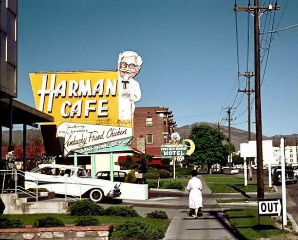 COLONEL FRANCHISES HAD GREAT SIGNAGE
