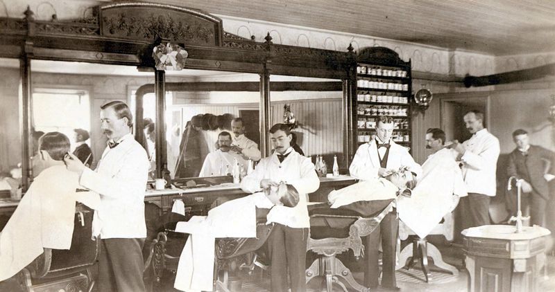 FIVE CHAIRS AND THREE BATH TUBS…THE O.K. BARBER SHOP - Vintage ...