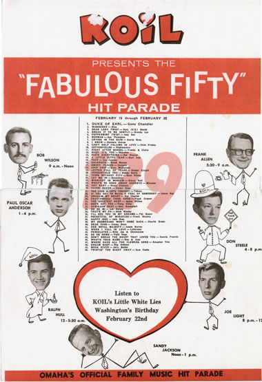 Koil-radio-survey-omaha-02-19-62-fabulous-50-hit-parade