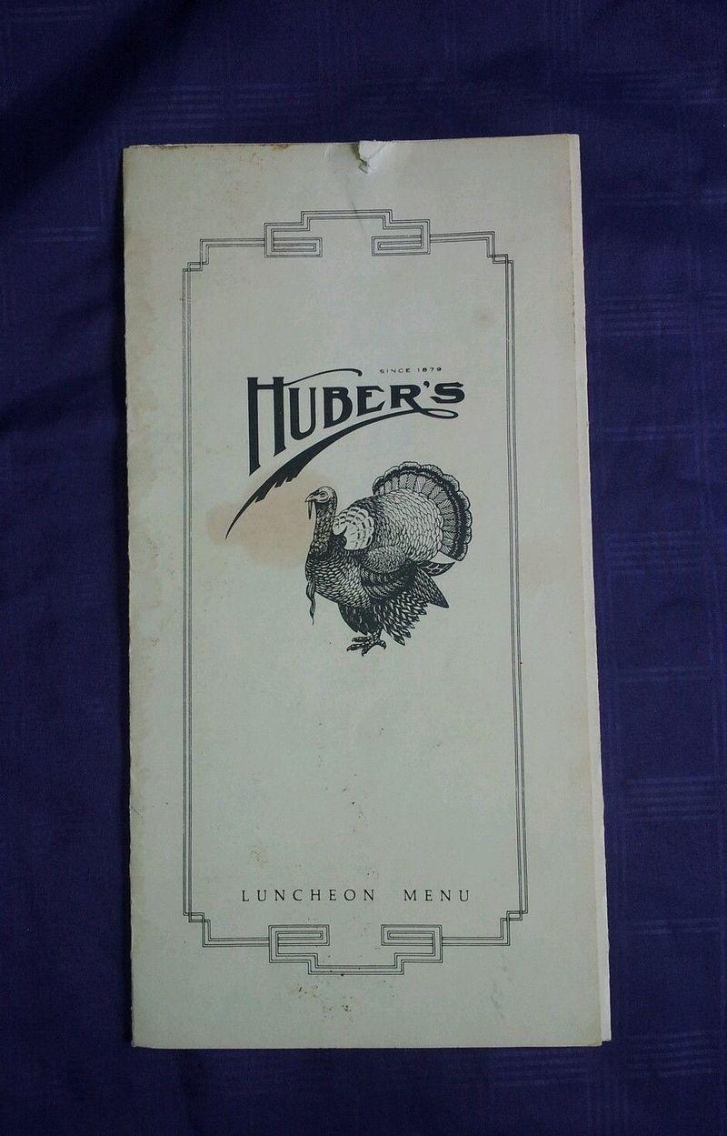 HUBERS MENU 1