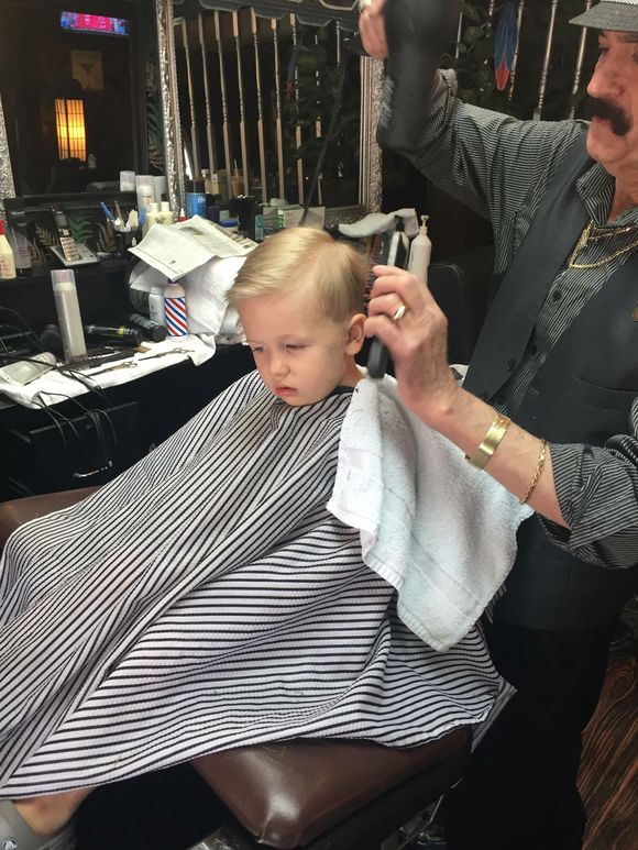 BRADLEY IN THE CHAIR WITH SAL CUTTING