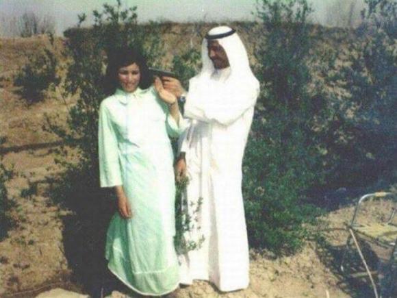 SADDAM ON HIS WEDDING DAY