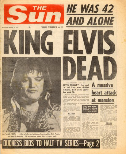 MUSIC DIED ON THIS DAY IN 1977
