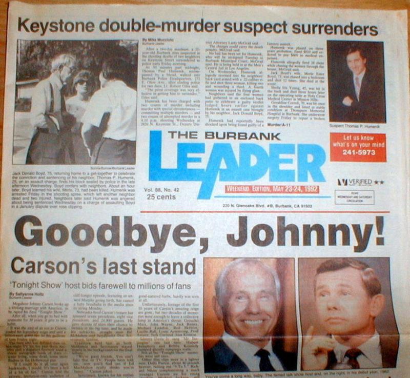 Carson burbank news