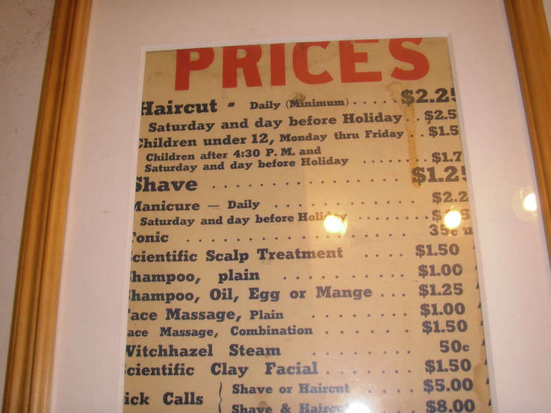 Prices 1958