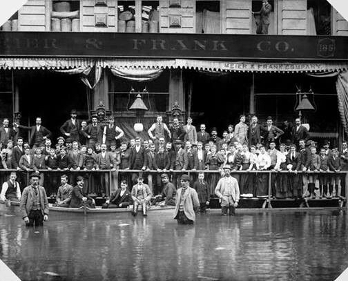 GREAT PORTLAND FLOOD IN 1894