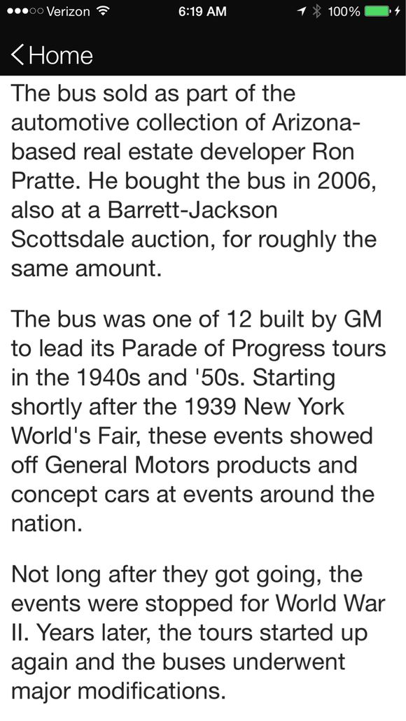 RARE BUS SELLS FOR FOUR MILLION