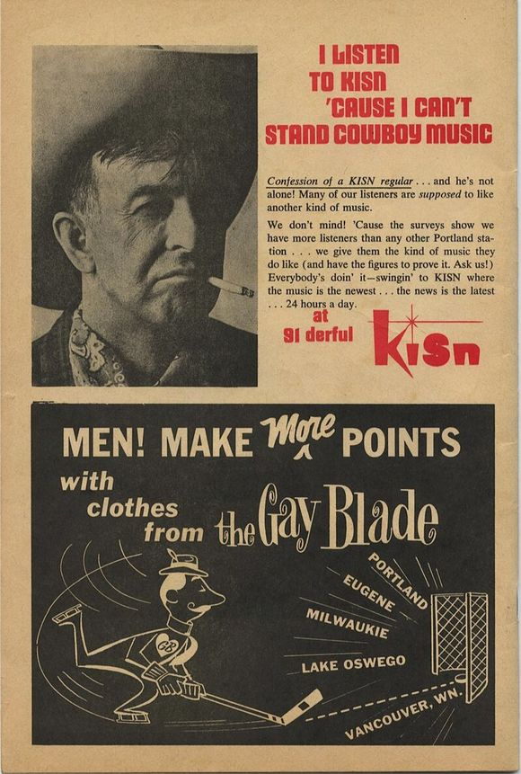 Classic ad when country was getting some attention