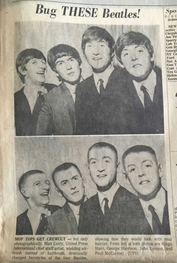 THIS MADE THE FRONT PAGE OF OREGON JOURNAL FEB 13, 1964