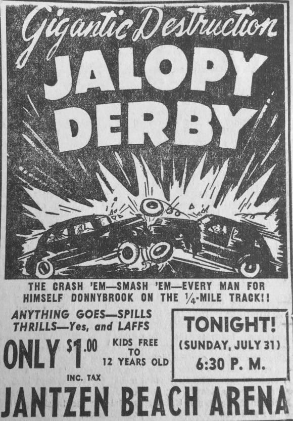 JALOPY DERBY AD FROM 1955