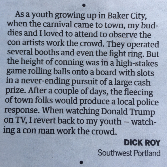 GREAT LETTER TO THE EDITOR