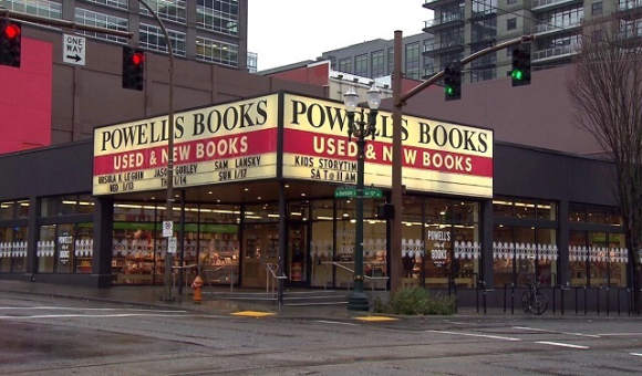 POWELL'S BOOKS SHOULD TELL HIM TO FIND ANOTHER BOOK STORE