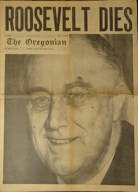FAMOUS OREGONIAN COVER PAGE