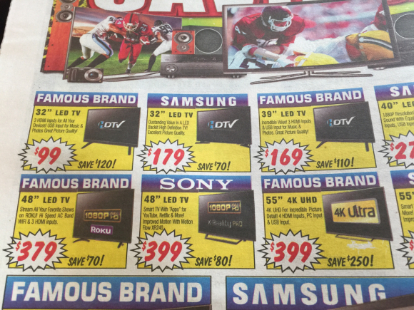 AMAZING HOW CHEAP TV'S ARE