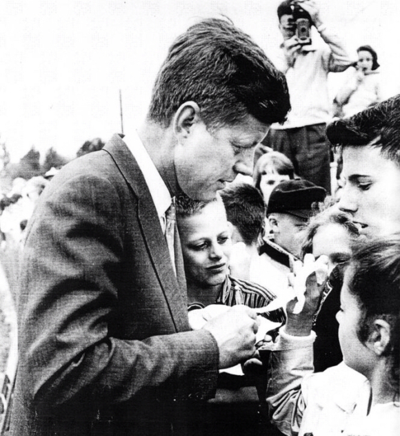 JFK WOULD BE 100 TODAY ( photos posted are Kennedy in Portland)