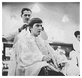 ORIGINAL BEATLES BARBERS CHAIR MOP TOP MISTER M'S BARBER SHOP BOURNEMOUTH ENGLAND DEZO HOFFMAN GEORGE