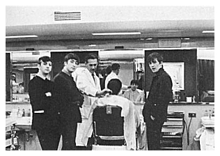 ORIGINAL BEATLES BARBERS CHAIR MOP TOP MISTER M'S BARBER SHOP BOURNEMOUTH ENGLAND DEZO HOFFMAN GEORGE