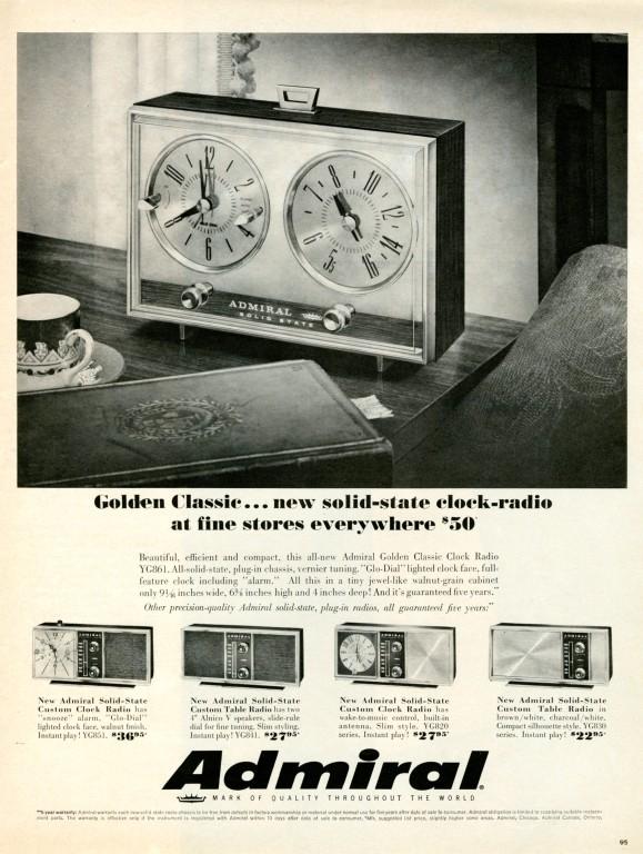 Clock radio 1966